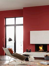 Wandfarbe statt Winterblues - Gedeckte, kraftvolle Töne schenken ...