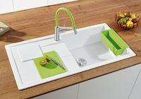 Ein echter Gute-Laune-Look - Hochwertige Spülen und Armaturen in frischen Trendfarben beleben Küche und Arbeitsfläche