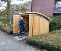 Fahrräder sicher und bequem abstellen - Geräumiges Fahrradhaus zur Selbstmontage